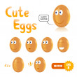 Vector set of cute easter eggs - Imagens vectoriais em stock