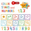 Stock Vector: Stars and numbers for children education