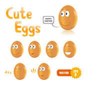Vector set of cute easter eggs — Vetorial Stock