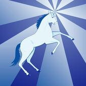 Blue unicorn — Stock Vector