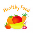 Stock Vector: Healthy Food