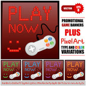 Game banners — Stock Vector
