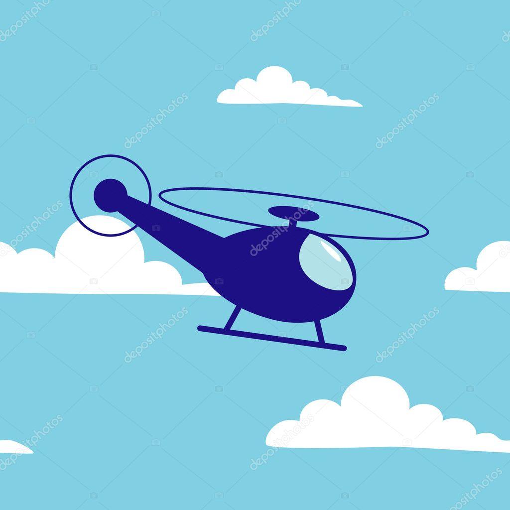 卡通直升机 — 图库矢量图像08