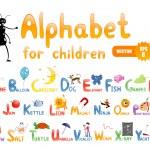 alphabet pour l'éducation des enfants — Vecteur