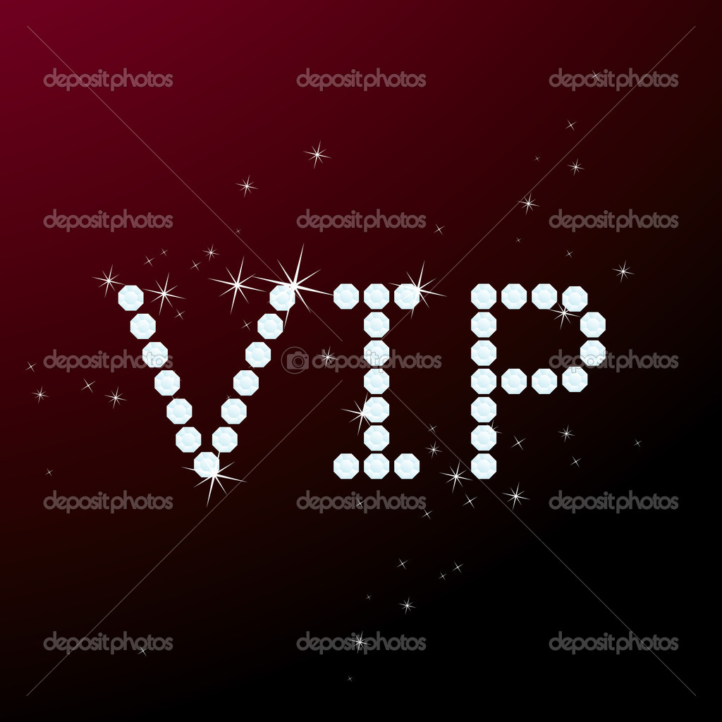 Vector illustration of brilliant VIP title — Stock Vector #5901479