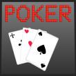 Poker online game banner — Stock Vector
