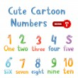 Cute numbers for children education — Stock Vector