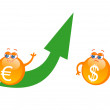 Growth of euro — Stock Vector #6088446