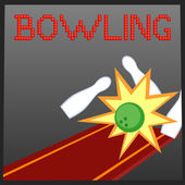 Bowling online game banner — Stock Vector