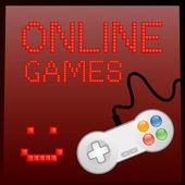 Online game banner — Stock Vector