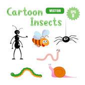 Cartoon-insekten — Stockvektor