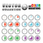 Abstract stopwatches — Stock Vector