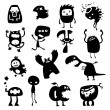 Funny monsters — Vector de stock