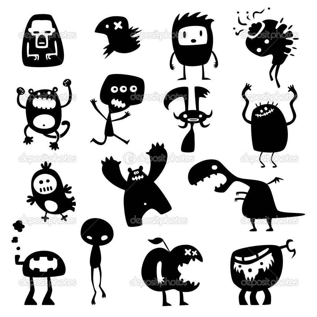 Monstres rigolos image vectorielle 5515741 - Images de monstres rigolos ...