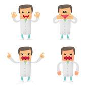 набор доктора смешной мультфильм — Cтоковый вектор