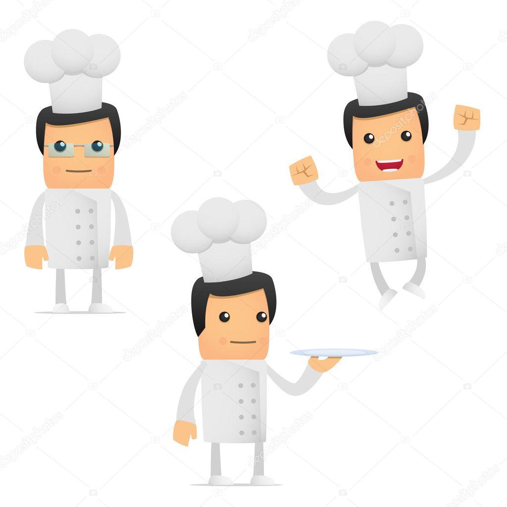 可爱的卡通厨师一套
