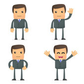 Funny cartoon businessman — Stock Vector