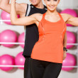 Couple at the gym — Stock Photo #5420222