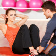 Couple at the gym - Stock fotografie