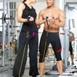 Couple at the gym — Stock Photo #5420272