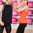 Couple at the gym — Stock Photo #5420362