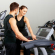 Couple at the gym — Stock Photo #5420386