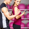 Couple at the gym — Stock Photo #5420389
