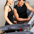 Couple at the gym — Stock Photo #5420406