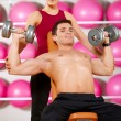 Couple at the gym — Stock Photo #5420417