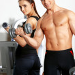 Couple at gym — Zdjęcie stockowe #5420446