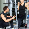 Couple at the gym — Stock Photo #5420458