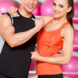 Couple at the gym — Stock fotografie #5420463
