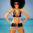 Tropical Afro Girl - Stock Photo