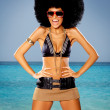 Stock Photo: Tropical Afro Girl