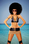 Tropical Afro Girl — Stock Photo