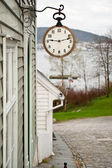 Old anique clock — Stock Photo