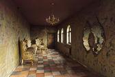 Vackra barock room — Stockfoto