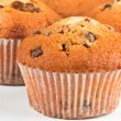 Muffins on a white background — Stock Photo