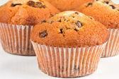 Muffiny na bílém pozadí — Stock fotografie