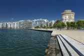 The white tower at Thessaloniki in Greece — Stock Photo