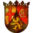 Rhineland palatinate coat of arm — Stock Photo