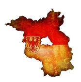 Brandenburg map — Stock Photo