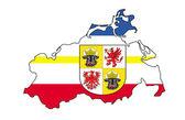 Mecklenburg map — Stock Photo