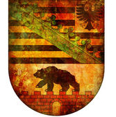 Saxony anhalt coat of arms — Stock Photo