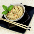 Vegetarian dish with chopsticks — Stock Photo