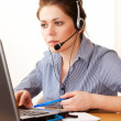 Woman working at office — Stock Photo