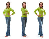 Full length womanish portrait. — Stock Photo