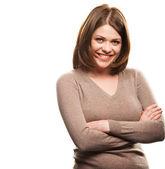 微笑的女人 — 图库照片