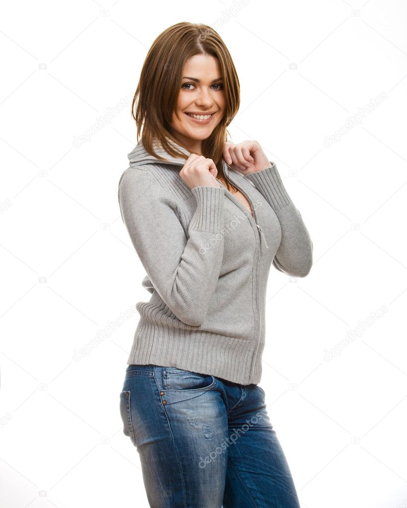 Isolated portrait of a beautiful teenager. Caucasian yong woman — Stock Photo #6470546