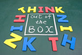 Think out of box — Stock Photo
